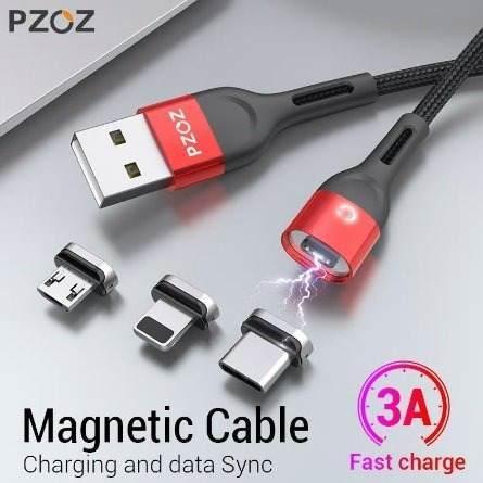 Cable Magnético Pzoz Usb Micro/ Tipo C/ Ios De 2 Metros