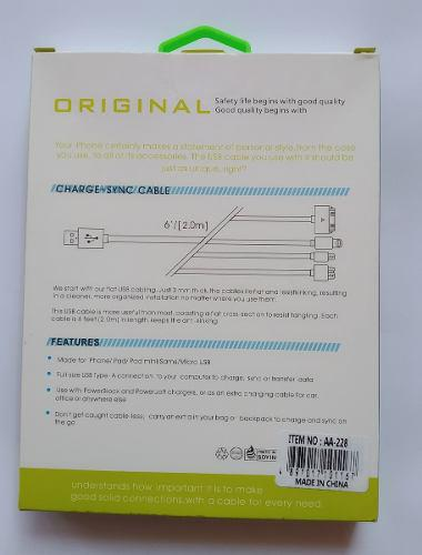 Cable Microusb V8 Premium / 2 Metros + Delivery