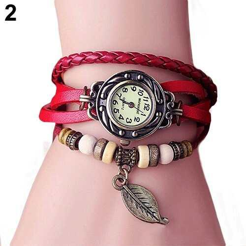 Reloj Pulsera Mujer Cuero Vintage