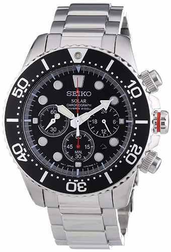 Seiko Ssc015p1 Reloj Solar Cronógrafo De Acero Inoxidable