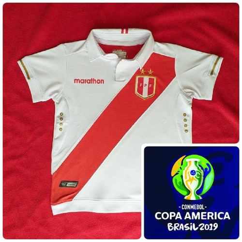 Camiseta De Peru Niño Marathon Copa America 2019 A1