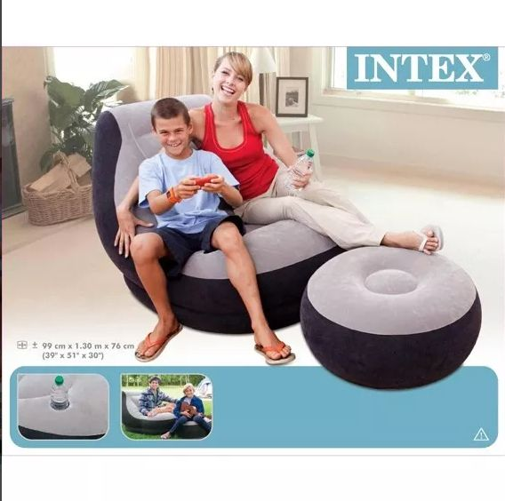 SILLÓN INFLABLE INTEX PARA INTERIOR Y EXTERIORES