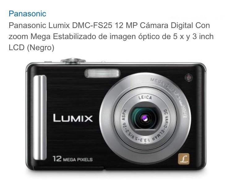 Cámara Pocket Lumix Panasonic 12Mp