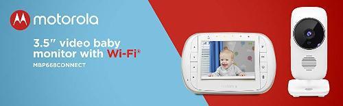 Monitor Video Para Bebé 3.5 Wi-fi Mbp668connect - Motorola