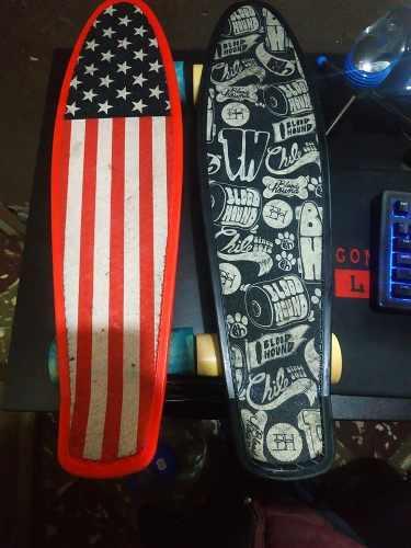 Skate Penny Rojo Y Negro Marca Mirey