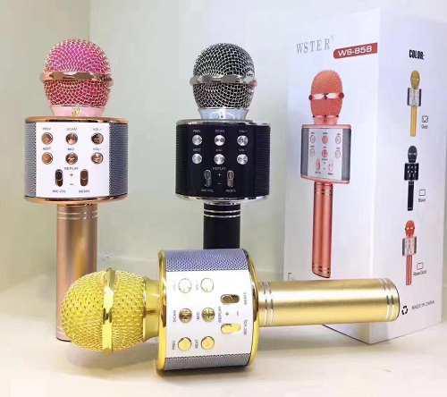 Microfono Con Parlante Karaoke Inalambrico Bluetooth Y Usb