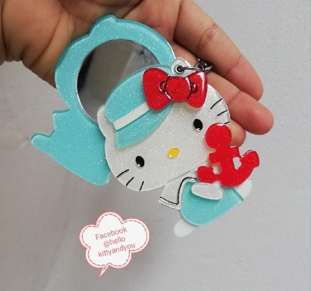 Llavero Espejo Acrílico Hello Kitty
