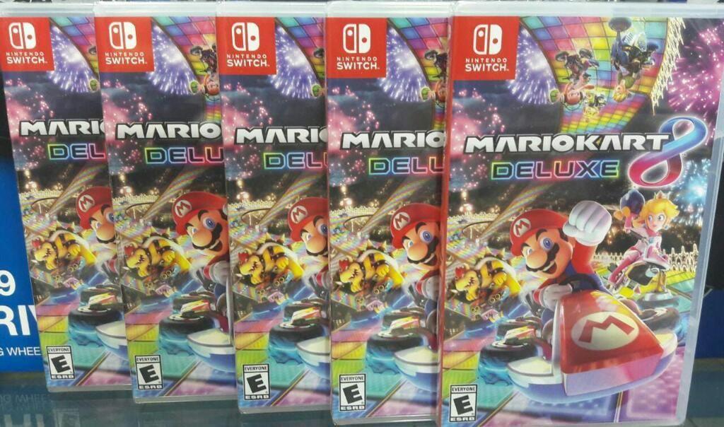 Mario Kart 8 Deluxe Nintendo Switch Nuevo Sellado Stock