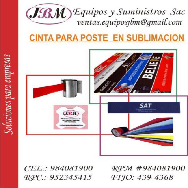 cintas retráctiles* para separadores de cola tipo banco,