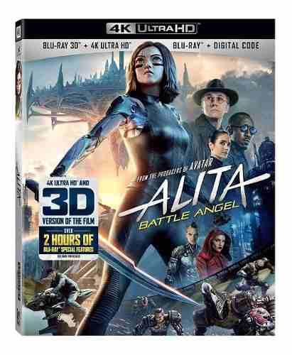 Blu Ray Alita: Battle Angel - 2d - 3d - 4k - Stock - Nuevo