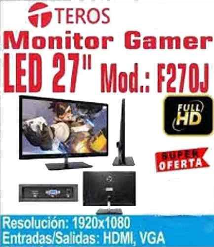 Monitor Gamer Teros F270j 27' Ips 2ms Full Hd Hdmi