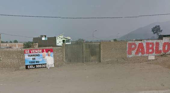 Venta de terreno en carabayllo 1000 m2 en Lima