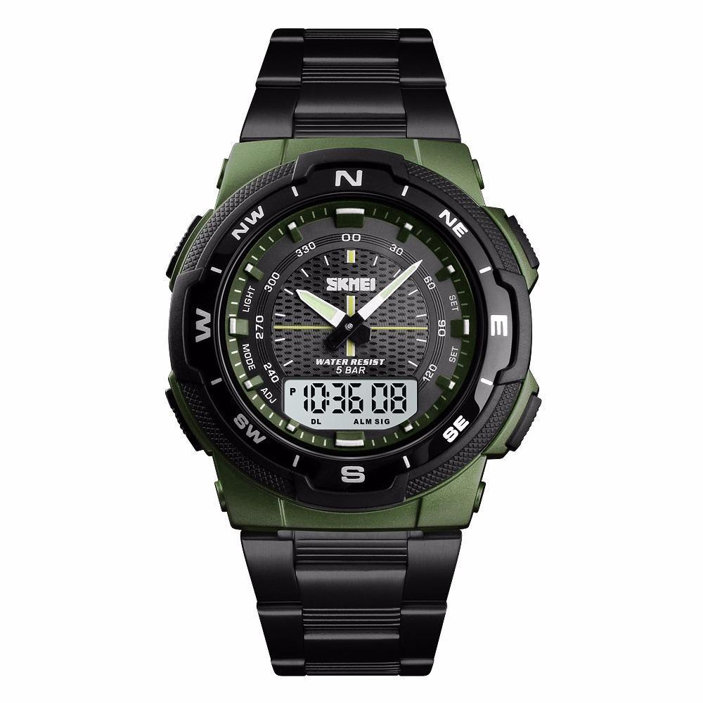 Reloj original SKMEI Color Negro con Verde Militar