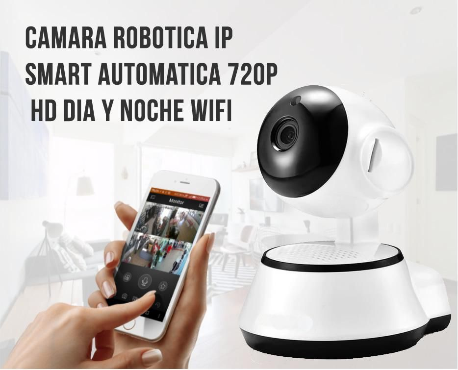 Camara Robotica Ip Wifi Smart Automatica 720p Hd Dia Noche