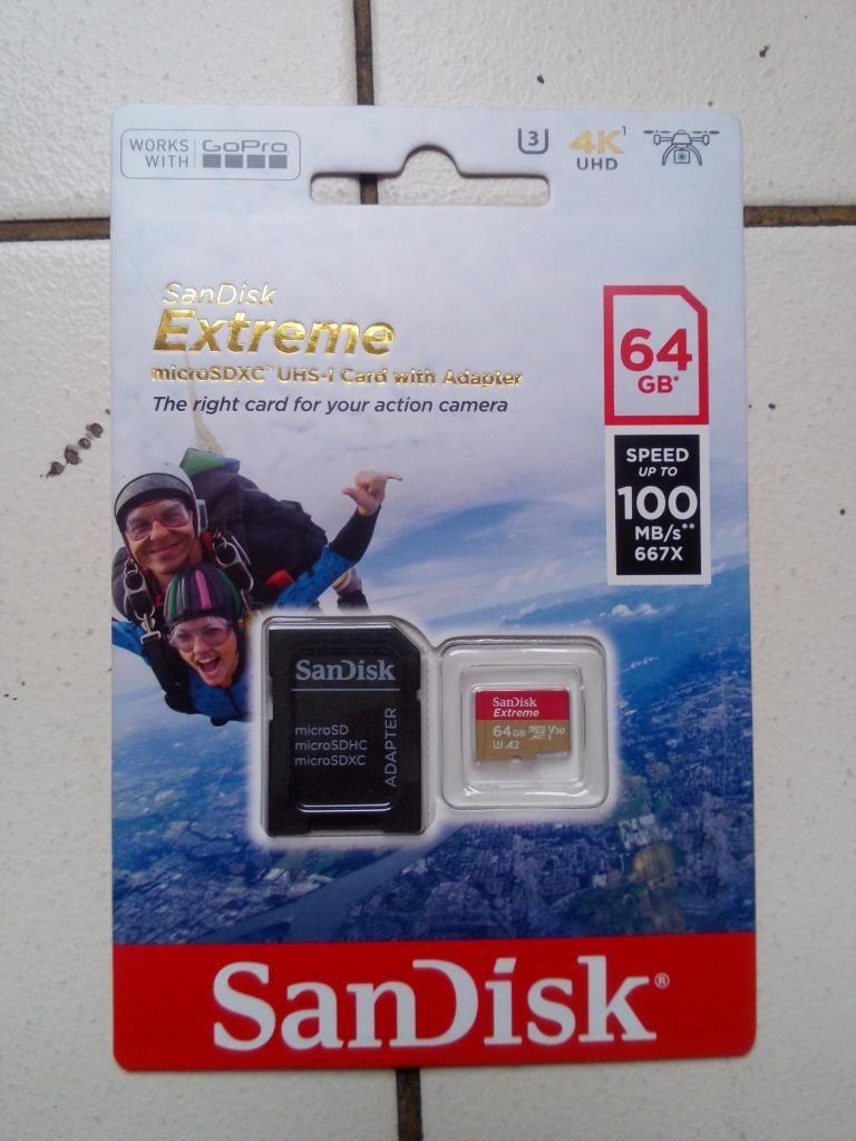 OFERTA! Tarjeta de memoria SANDISK EXTREME 64GB 100MB