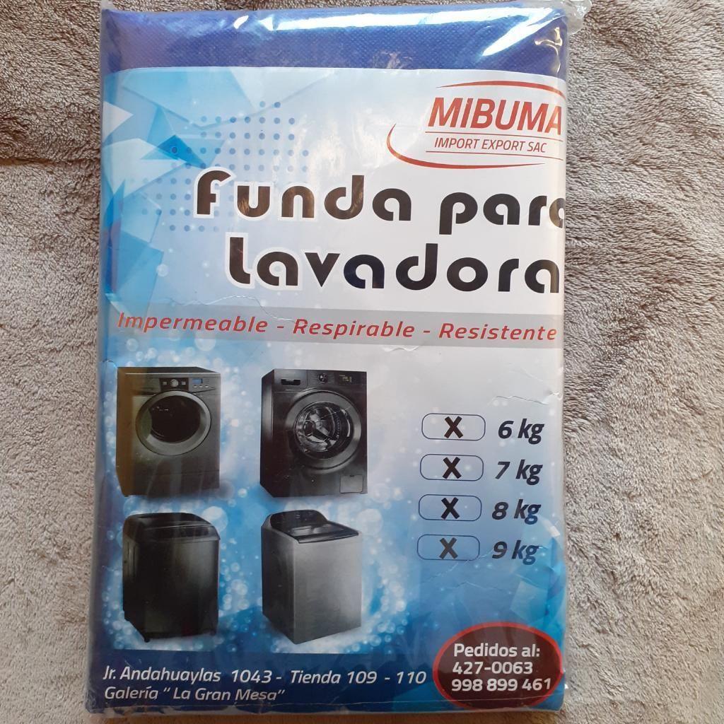 Funda para Lavadora Azul Mibuma 6 a 9 Kg