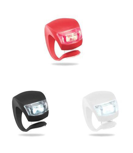 Luces Led Para Bicicletas Nocturnas, Rojo, Blanco, Negro