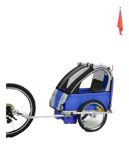 Remolque Bicicleta Trailer Para Niños Y Mascotas