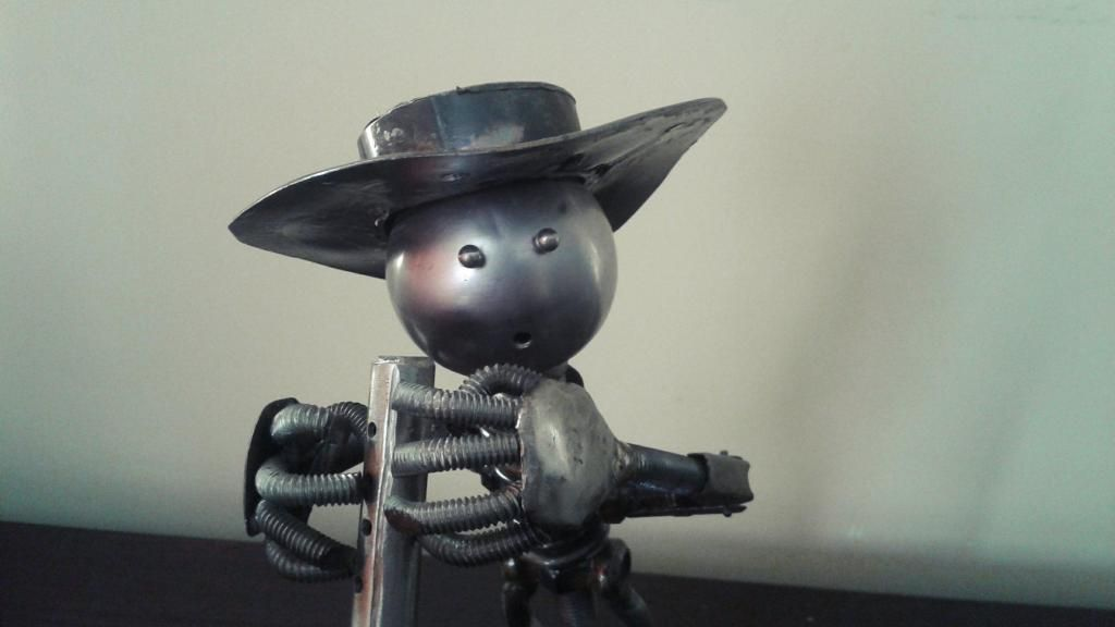 """Antigua escultura en metal """"Flautista"""" #vintage"""