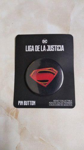 Boton Escudo Superman Pelicula liga De La Justicia Dc Cine