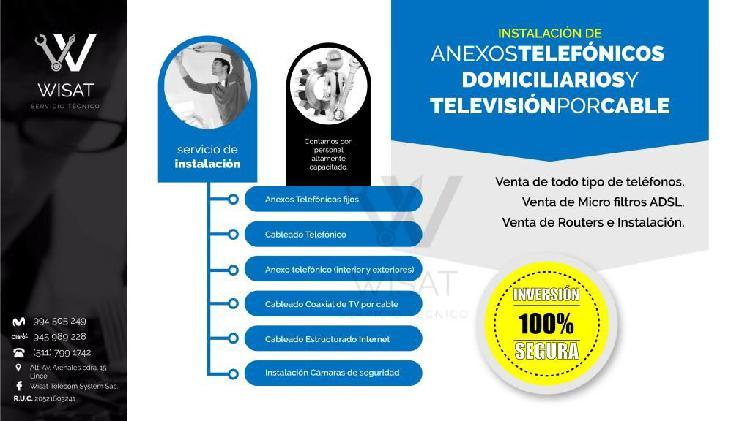 Servicio de Instalación de Anexos Telefonicos