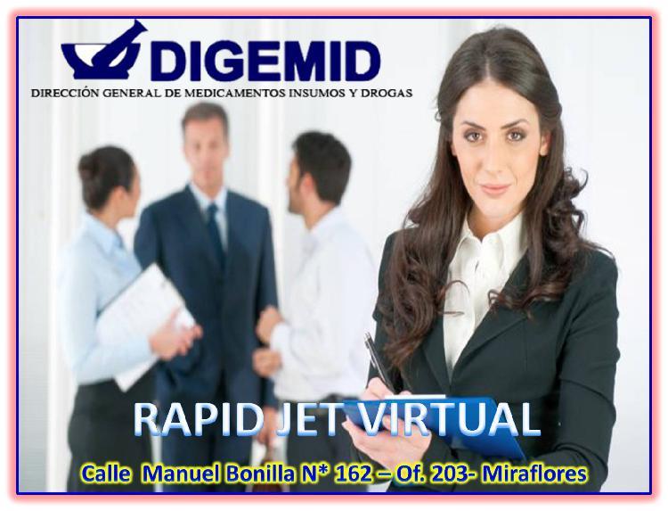 ALQUILER DE OFICINA VIRTUAL CON AUTORIZACION DE DIGEMID EN