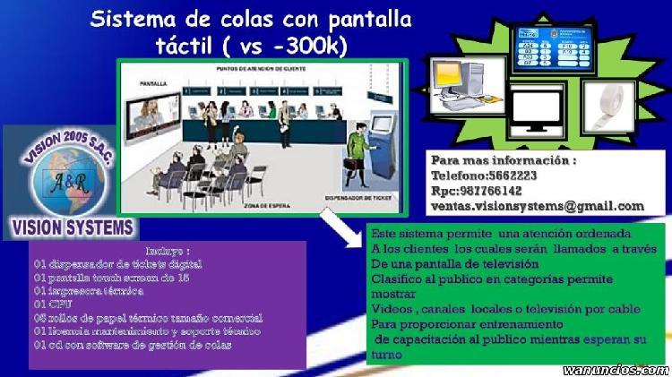 ATENCION DE COLAS CON PANTALLAS