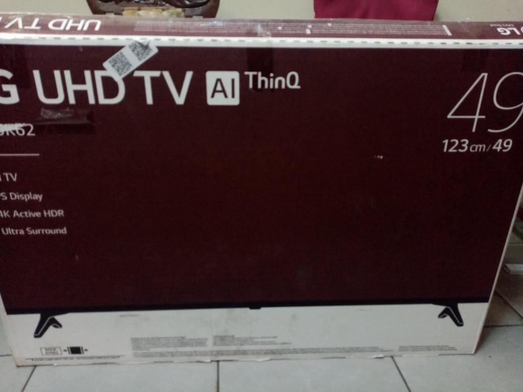 LG 49 PULGADAS ULTRA HD 4K HDR BLUETOOTH MODELO SLIM