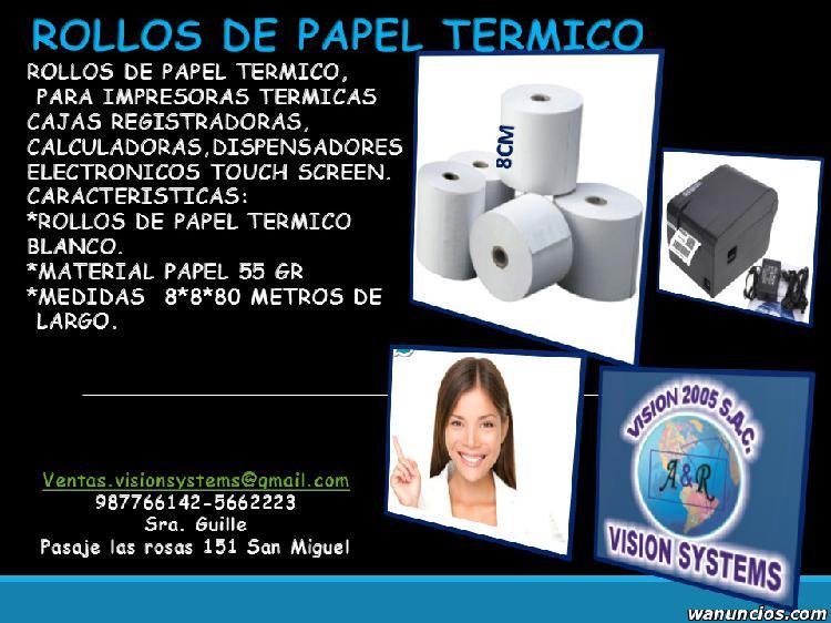 ROLLOS DE CONTOMETROS DE PAPEL TERMICO