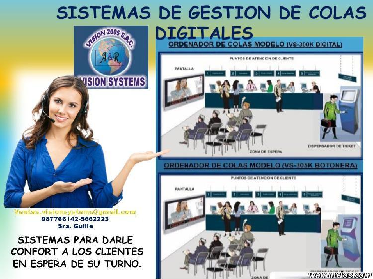 SISTEMAS DE COLAS CON TOTEM CALLAO