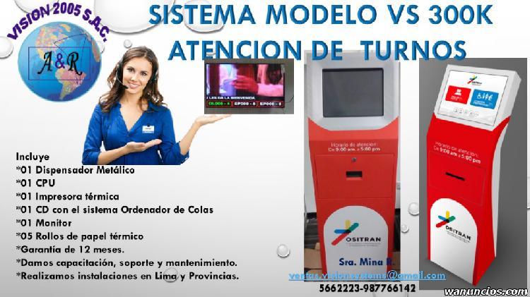 SISTEMAS DE COLAS MODELO VS 300K