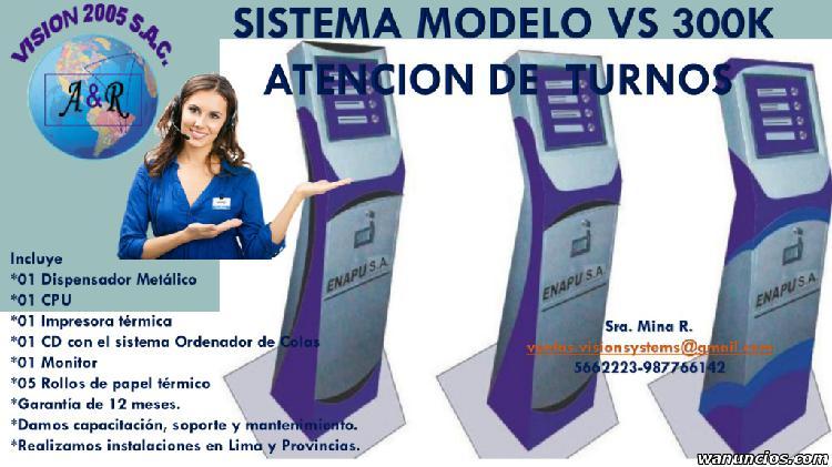 SISTEMAS DE COLAS MODELO VS 300K DIGITAL