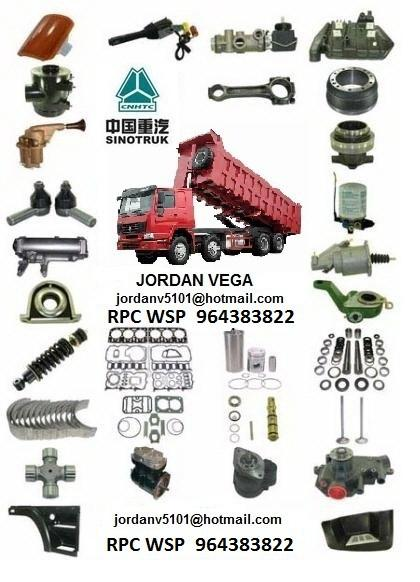 venta de repuestos para camiones howo sinotruk