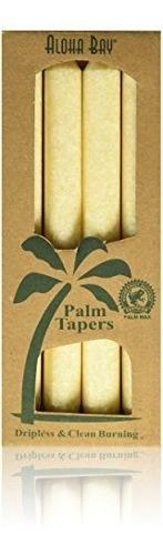 Aloha Bay Palm Tapers Cream 4 Count