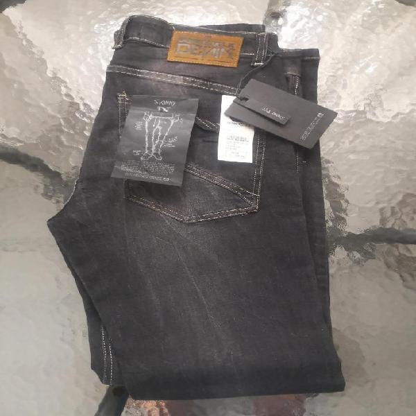 Pantalon Jean Dunkelvolk Hombre Skinny Fit color negro talla