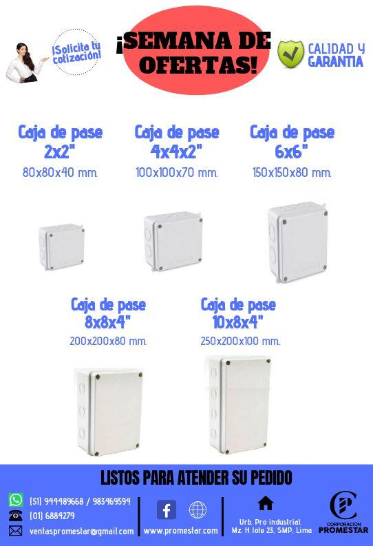 CAJA DE PVC 4 X 4