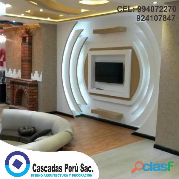muebles de tv modernos, muebles de tv con luces led