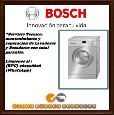 991668105 LAVADORAS BOSCH SERVICIO TECNICO MANTENIMIENTO