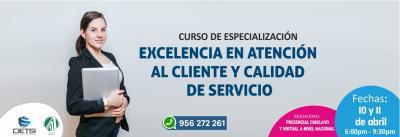 CURSO DE ESPECIALIZACIÓN EXCELENCIA EN ATENCIÓN AL CLIENTE