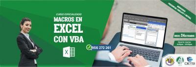CURSO ESPECIALIZADO MACROS EN EXCEL CON VBA 2019 (NUEVO)
