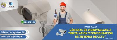 CURSO TALLER CÁMARAS DE VIDEOVIGILANCIA 2019 (PRIMER NIVEL
