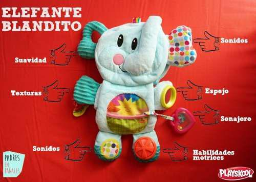 Juguete Interactivo Para Bebe Elephantin Va Conmigo Playskol