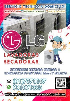 Mantenimiento y Reparación de LAVADORAS LG// 7378107 en