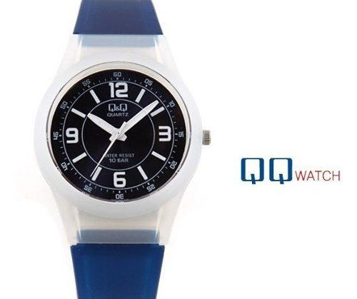 Reloj Original Q&q Acuático Color Azul Para Piscina Y Playa
