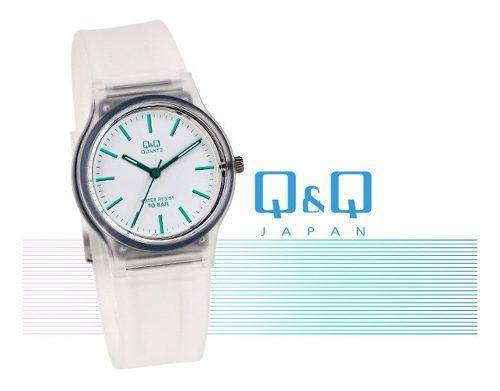 Reloj Q&q Original Acuático Transparente Para Playa Piscina
