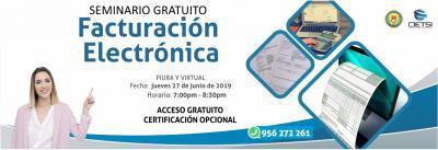 SEMINARIO GRATUITO FACTURACIÓN ELECTRÓNICA 2019 2DA