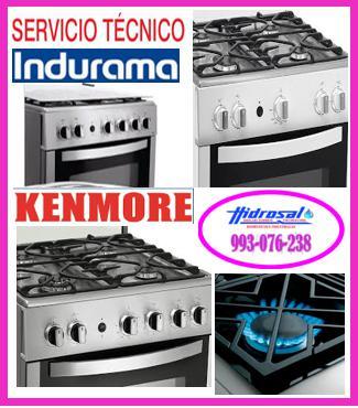 Servicio técnico de cocinas a gas indurama 993076238