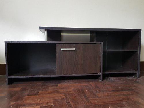 Mueble De Tv + Sofá L 2 Cuerpos + Mesa De Madera Y 6 Sillas
