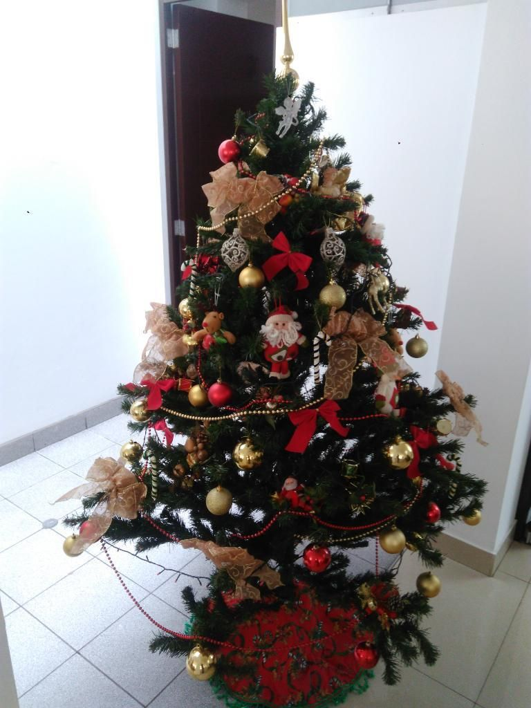 Arbol de Navidad Completo Adornos Luces