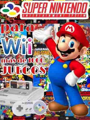 Super Nintendo Para Wii !! Con Mas De 1000 Juegos.!!